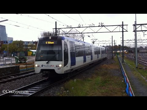 RET Metro RSG3 aankomst ''oud'' Den Haag Centraal (RandstadRail)