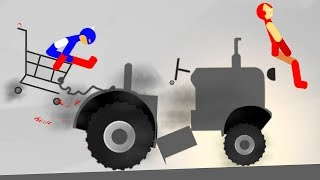 БЕШЕНЫЙ СТИКМЕН и ЖЕЛЕЗНЫЙ ЧЕЛОВЕК КРУТАЯ игра про машинки в смешном видео для детей про горе героя