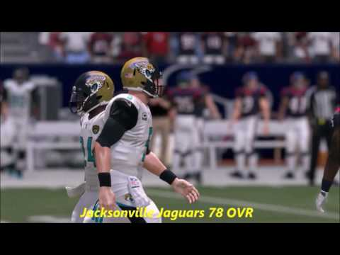 Madden 17 Team Ratings Predictions (AFC South)