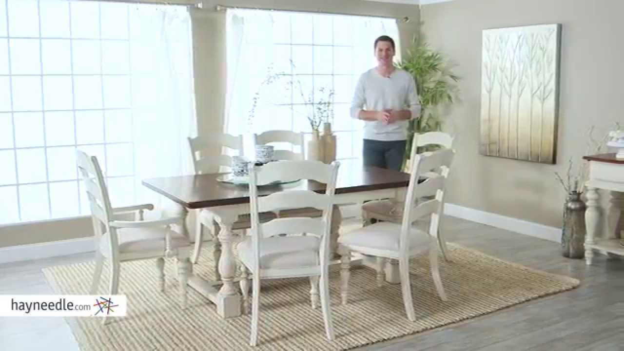 Hillsdale Pine Island 7 Piece Trestle Dining Table Set With Chairs    Product Review Video