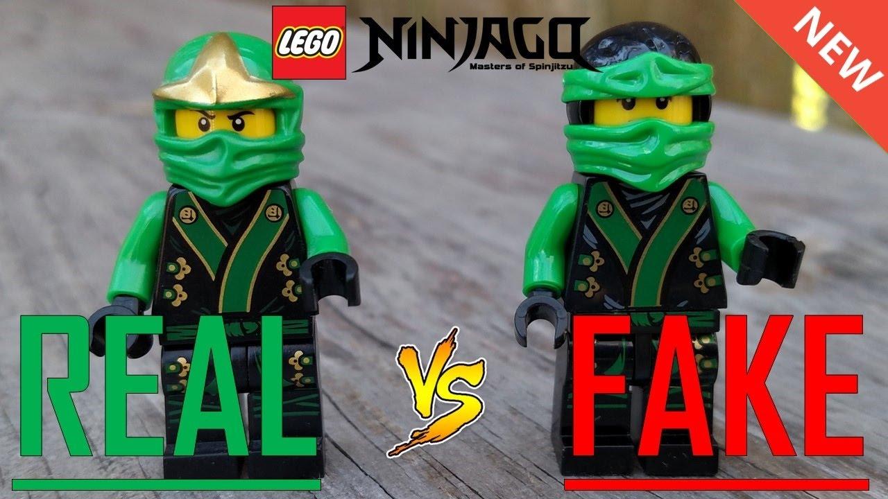 Real vs fake lego ninjago minifigures youtube - Ninjago vs ninjago ...