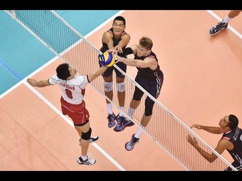 FIVB 2015 World Cup  USA vs Japan 日本バレーボール Men's Volleyball Highlights