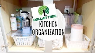 ORGANIZE AND DECLUTTER WITH ME 2018 // DOLLAR TREE  KITCHEN SINK + PANTRY ORGANIZATION // DECLUTTER!