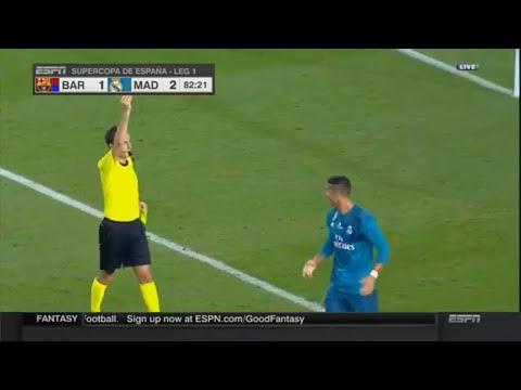 El Classico | Ronaldo red card | Real Madrid vs Barcelona Supercopa de España Final, Game 1