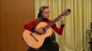 """2 Конкурс миниатюры """"Nota bene!"""". Лауреат Гран-при. Бестигольникова Татьяна, гитара, 11 лет"""