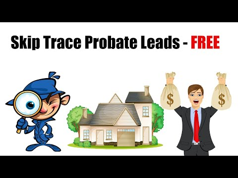 FREE Skip Tracing - Probate Court Records