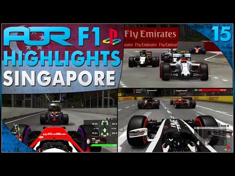 F1 2016 | AOR PS4 F1: S12 Round 15 - Singapore GP (Official Highlights)