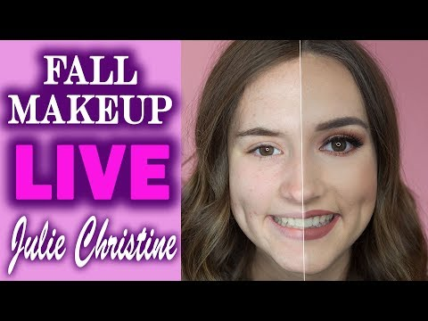 🔴 Burgundy Fall Makeup Tutorial: Halo Shimmer Eye with Naked Heat. In Real Time