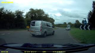 2018-09-08 - C&I South West Ltd silver Ford WM64EKF fails to give way at roundabout