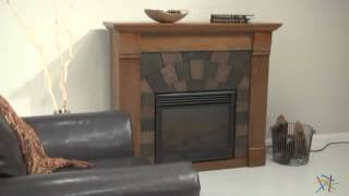 Southern Enterprises Elkmont Salem Antique Oak Electric Fireplace - Product Review Video