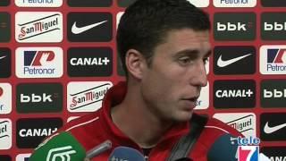 Declaraciones Ibai Gómez, Oscar de Marcos,Gorka Iraizoz tras el Athletic Real Madrid