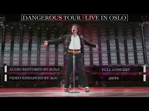 Michael Jackson | Dangerous Tour Live Oslo [60FPS] | FULL CONCERT | Restored Audio & Video