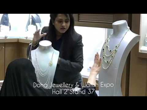 At the Doha Jewellery & Watch Exhibition
