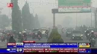 Bandara Sultan Mahmud Badaruddin II Diselimuti Kabut Asap