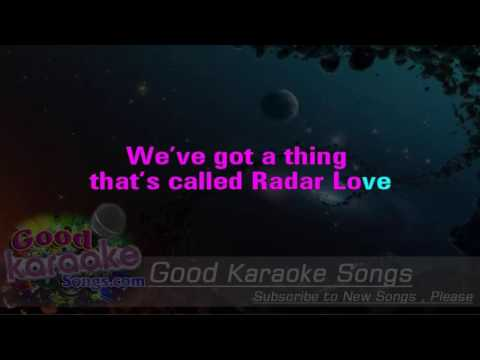 Radar Love -  Golden Earring (Lyrics Karaoke) [ goodkaraokesongs.com ]