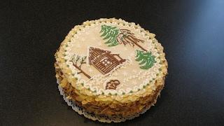 Миндальный торт. Как сделать торт. Украшение тортов.