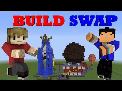 IMPROVED BUILD SWAP! Custom Minecraft Minigame /w Taurtis