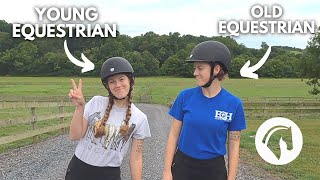 YOUNG EQUESTRIAN VS OLD EQUESTRIAN *funny 😂