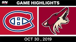 NHL Highlights   Canadiens vs. Coyotes – Oct. 30, 2019