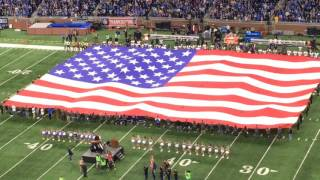 Watch Aretha Franklin perform national anthem before Lions-Vikings Thanksgiving Day game