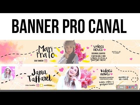 Como Fazer O BANNER Da JANA TAFFAREL No PICMONKEY
