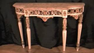 Antique Painted Console Table