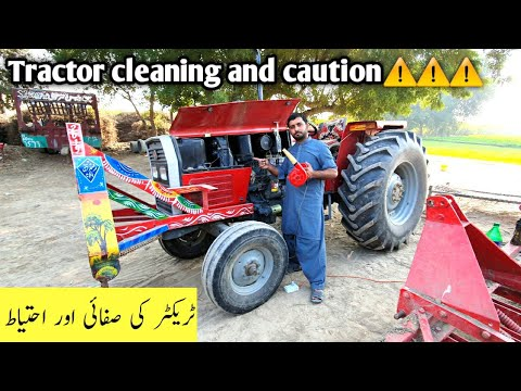Mf 385 Tractor cleaning and precautions ⚠️⚠️ | How to properly clean tractor and avoid any damage