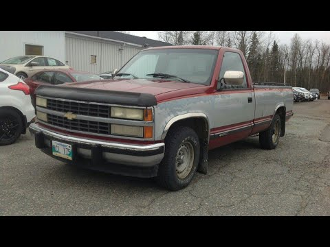 1990 chevrolet silverado 1500 regular cab: start up, exterior