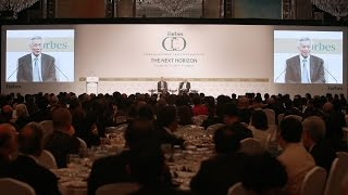 On economic outlook for US, Europe & Asia (Forbes Global CEO Conference)