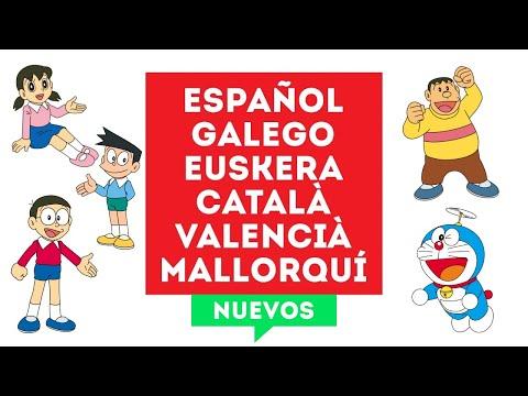 Doraemon en Español, Galego, Euskera, Català, Valencià y Balear