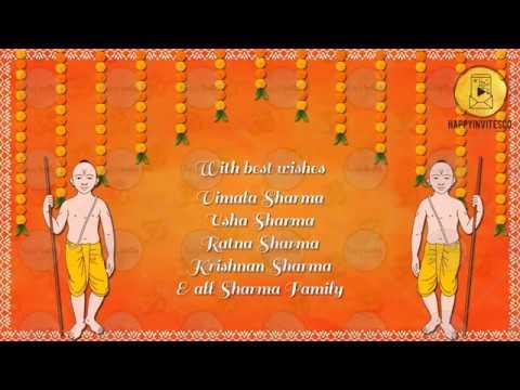 Tc01 Upanayanam Invitation Video Card