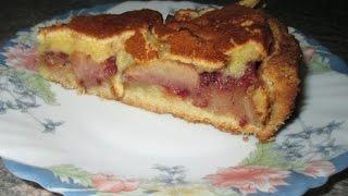 Яблочный пирог с брусникой и крем брюле, пирог с яблоками рецепт