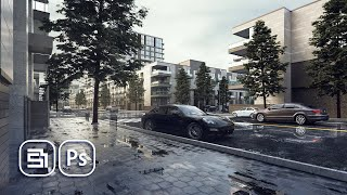 street POST PRODUCTION  VRAY Render Elements