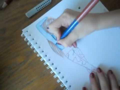 Tutorial Topmodel Zeichnen Lernen Mit Buntstift