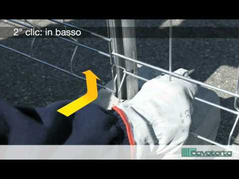Cavatorta | MOBICLIC, istruzioni di montaggio recinzione temporanea. In tre clic.
