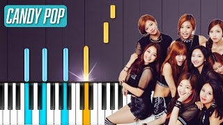 """TWICE - """"Candy Pop"""" Piano Tutorial - Chords - How To Play - Cover"""