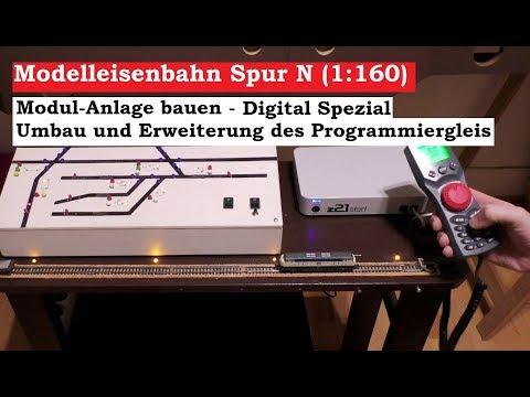 Modellbahn Spur N / 1:160 - Digital Programmiergleis Umbau und Erweiterung (Tutorial) thumbnail