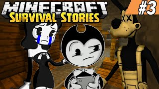 BORIS GETS ATTACKED IN A CAVE! || Minecraft Survival Episode 3