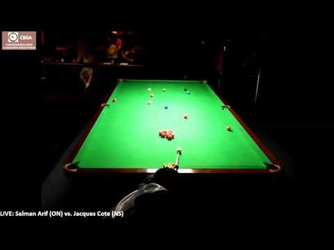 2013 Canadian Snooker Championship (RR) - Jacques Coté (NS) vs. Salman Arif (ON)