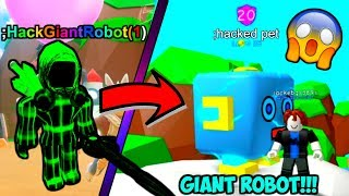 HACKING GIANT ROBOT CON COMANDI ADMIN IN BUBBLE GUM SIMULATOR TROLLING!! (Roblox)