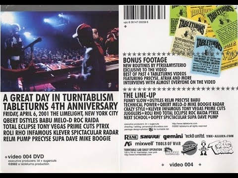 Tableturns: A Great Day In Turntablism: Tableturns 4th Anniversary