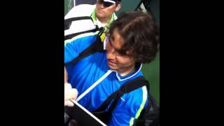 Nadal signing autographs