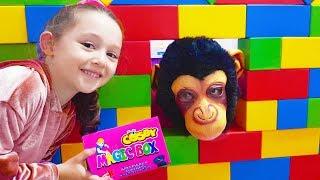 Öykü was very Surprised Magic Box !!! pretend play monkey - Funny Kid Oyuncak Avı
