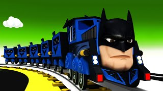 Batman The Superhero Choo Choo Cartoon Train for kids - Toy Factory Cartoon