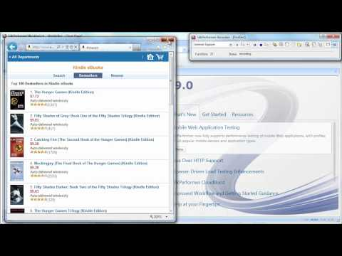 Silk Performer 9.0 Tutorial -  Recording a mobile web application using a Web browser on a PC.