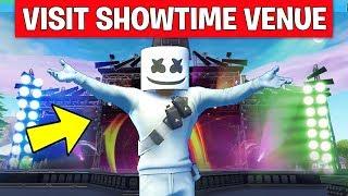 Visit the Showtime Venue LOCATION GUIDE! - Showtime Challenges (Fortnite Marshmello Event)
