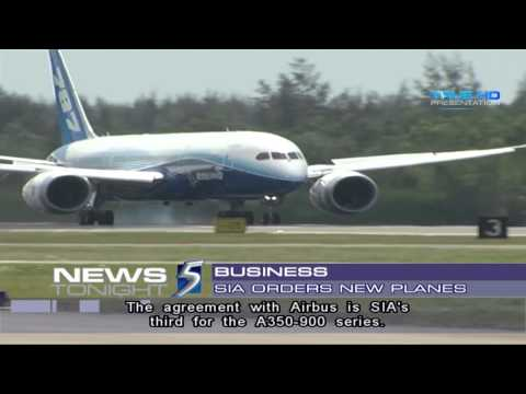 Singapore Airlines places US$17b order for Airbus, Boeing aircraft - 30May2013
