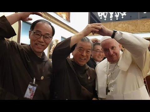 꽃동네 오웅진 신부, 태국 방문 프란치스코 교황 알현