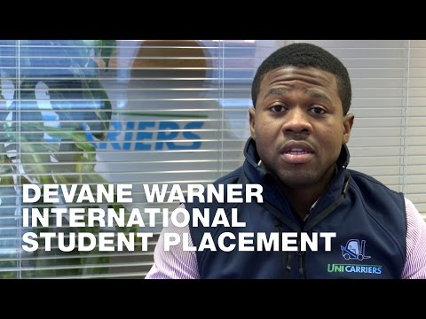 Devane Warner - International Student Placement
