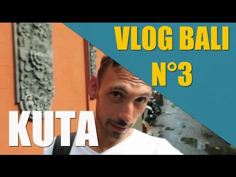 Vlog Bali 3: KUTA coeur touristique et  taxis à choisir